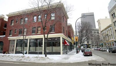 Work is underway to open the Winnipeg Free Press News Café at the corner of Arthur Street and McDermot Avenue, in an area once known as newspaper row.