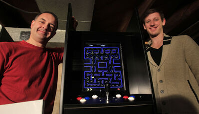 Richard Naherny and his stepson, Tim Schaubroeck, build and sell upright consoles featuring dozens of classic video games through their business, Tim and Rick's Custom Arcades & Pinball Sales & Service.