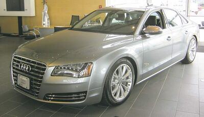 The Audi A8, pictured, as well as the A6, A7 and Q5 models are all available with fuel-efficient diesel engines.