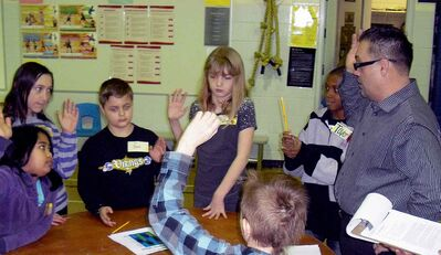 Kids at Archwood School were enthused by and engaged in a CareerTHINK workshop at their school on Feb. 21.