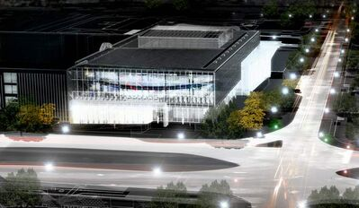 An artist's drawing of the Active Living Centre's exterior after its opening in three years.