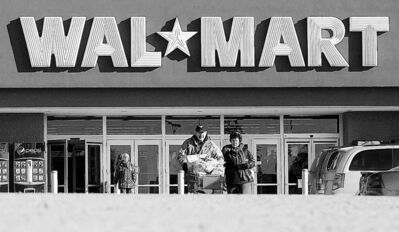 BRUCE BUMSTEAD / BRANDON SUN ARCHIVESWal-Mart Stores Inc. has turned in a fourth-quarter profit above analysts� expectations, allaying fears about earnings.