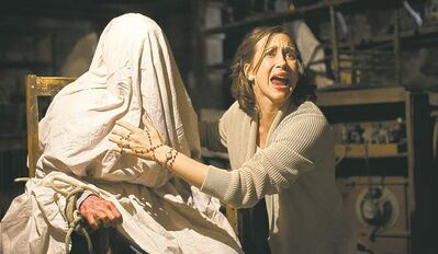 'White after Labour Day? The horror!': Vera Farmiga as clairvoyant Lorraine Warren in The Conjuring.