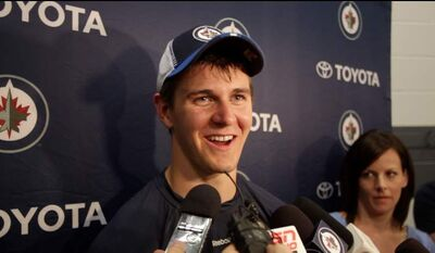 'It's been a long day, but it's been a lot of fun,' Mark Scheifele said at development camp on Monday.