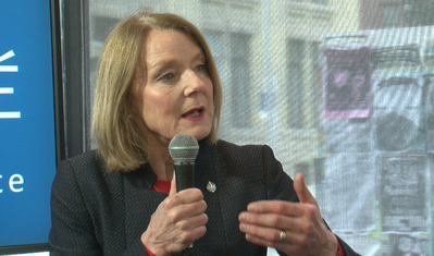 Federal NDP finance critic Peggy Nash at the Winnipeg Free Press News Café.