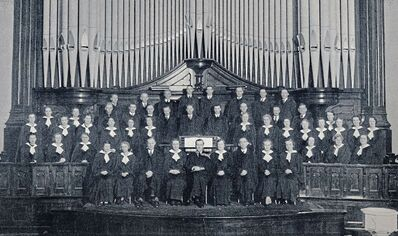 1937 - The original choir of Westminster Church.