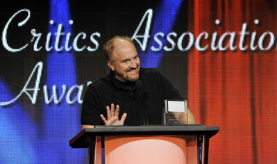 "Louis C.K. picks up the award for Individual Achievement in Comedy for his television series ""Louie"" at the 2013 TCA Awards at the Beverly Hilton Hotel on Saturday."