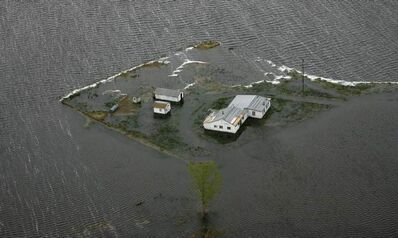 Property damage from flooding of Lake Manitoba can be seen from the air in 2011 as photographers flew from St. Andrews to Twin Lakes to Delta Beach.