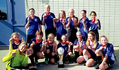 The Norberry-Glenlee Community Centre U-12 girls team was recently crowned district champions.