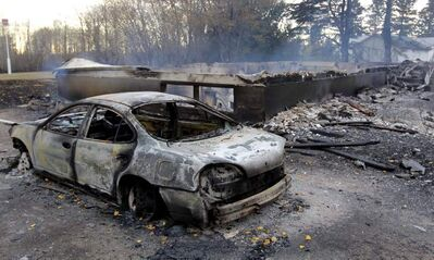 Wildfires ravaged Vita in October, destroying four homes and thousands of dollars of property, only to be followed within days by snow and freezing rain.