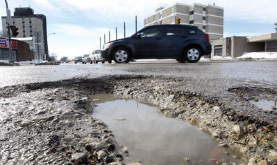Adding insult to injury, potholes have arrived in Winnipeg.