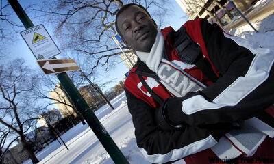 Neighbourhood resident Raymond Ngarboui says he feels safer since surveillance cameras were installed to monitor Central Park.