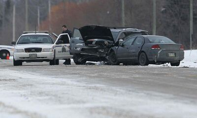 Oakbank RCMP investigate a collision that killed two women on Garven Road.