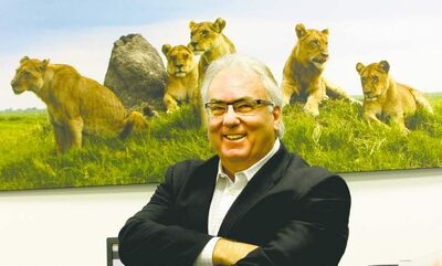 Ken Gigliotti  / Winnipeg Free Press Jean-Pierre Parenty's leadership of Parenty Reitmeier takes him around the globe, which allows him to take the wildlife photographs that decorate the walls of the company�s office.