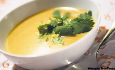 Prairie Ink's creamy West African Peanut Soup is a good choice for vegans or people who are lactose intolerant.