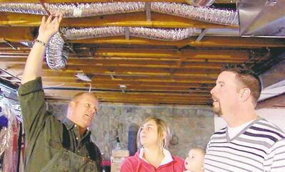 Mike Holmes speaks to homeowners about improper ductwork and appropriate uses for duct booster fans.