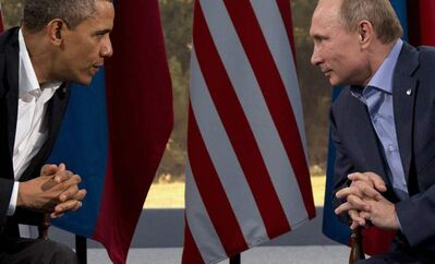 This June 17, 2013 file photo shows President Barack Obama meeting with Russian President Vladimir Putin in Enniskillen, Northern Ireland.