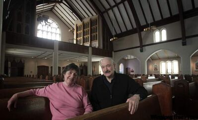 Nicola Schaefer and Richard Lebrun are involved in St. Ignatius Loyola Roman Catholic Church's Catholics Coming Home course.