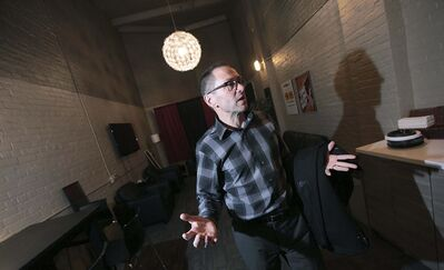 PHIL HOSSACK / WINNIPEG FREE PRESS</p><p>Kevin Donnelly backstage in the green room at The Burt.</p>
