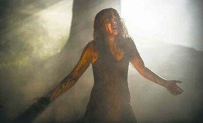 Chloe Grace Moretz plays telekenetic teen Carrie in the remake of the 1976 horror classic.