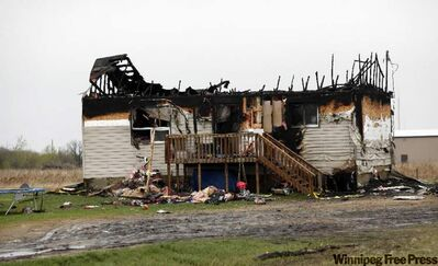 House destroyed by fire on Long Plains reserve.
