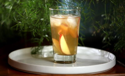 Learn how to make this peach white iced tea.