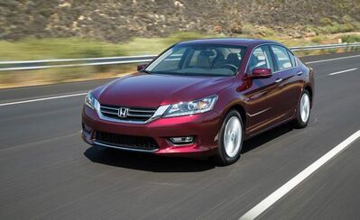 Despite a larger V6 engine, the Accord's fuel-economy is still superior.