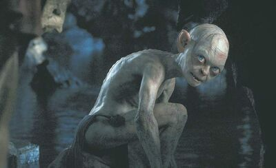 Gollum, performed by Andy Serkis, in the fantasy adventure The Hobbit: An Unexpected Journey