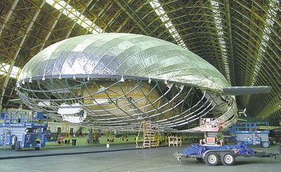 Supplied photoAn Aeros rigid cargo airship is being built for the U.S. Defence Department.