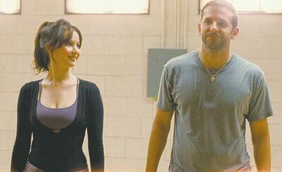 The Weinstein Company Jennifer Lawrence and Bradley Cooper (above) in Silver Linings Playbook. �She makes you happy no matter what,� he says of his co-star.