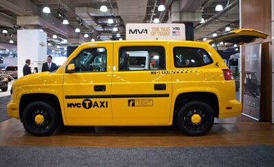 The MV-1, made by Vehicle Production Group (VPG) was introduced at the 2012 New York International Auto Show in April this year. Dignity Transportation, a Winnipeg-owned company, has introduced five of the wheelchair-accessible taxis into the Winnipeg market.