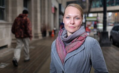 Kristy Rebenchuk, a co-ordinator at Community Homeless Assistance Team (CHAT) outreach, which is a part of the Downtown BIZ and is dedicated to performing outreach to individuals at-risk of, or experiencing homelessness.