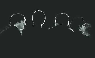 This Feb. 11, 1964 image provided by the David Anthony Fine Art gallery in Taos, N.M., shows a photograph of the Beatles taken by photographer Mike Mitchell during a news conference before the band�s first live U.S. concert at the Washington Coliseum. Mitchell������s portraits of the Beatles are the centerpiece of a monthlong photography exhibition at the gallery. This marks the first time the images have been shown since their unveiling in 2011 at a Christie������s auction in New York City. (AP Photo/David Anthony Fine Art, Mike Mitchell)