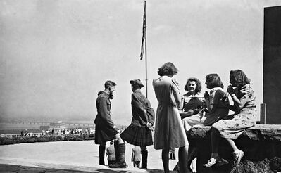 Bienvenue sur le belv�d�re du parc du Mont-Royal/Welcome to the lookout on Mount Royal Park 1941 is one of 25 works by the early 20th-century Canadian photographer Harry Sutcliffe taken in downtown Montreal being exhibited at the McCord Museum. THE CANADIAN PRESS/ho-McCord Museum-Harry Sutcliffe