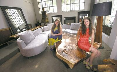 Phil Hossack / Winnipeg Free Press Sylvia Bock (left) and her daughter, Leila Bock-Freeman, in the showroom of their new Pacific Avenue location.