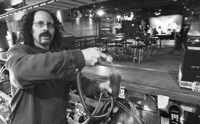 joe bryska / winnipeg free pressPyramid Cabaret manager Bruce Waterman is back in business. The club�s owner said the city used high-pressure hot water to clear the frozen pipes, but the city denies that.