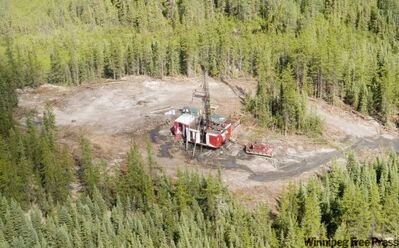 Early work takes place on the Lalor mine at Snow Lake in 2009.