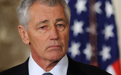 Former U.S. Senator Chuck Hagel, a Republican from Nebraska, is nominated to be Secretary of Defense by President Barack Obama at the White House on Monday, in Washington, D.C.