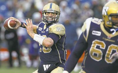 The Bombers quarterbacks, including Justin Goltz (above), finished last in passing yards and completion percentage despite having the second-highest number of pass attempts.  They also led the league in interceptions.