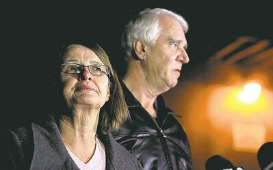 Brian Vander Brug / Los Angeles Times / MCTJim Reynolds, 66, and wife Karen Reynolds, 57, recount their harrowing experience of being held captive by Christopher Dorner inside a condo.