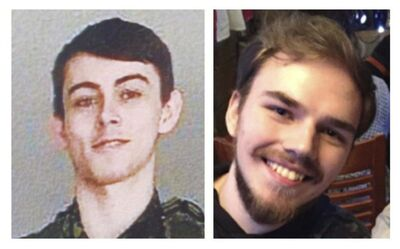 RCMP HANDOUT</p><p>Murder suspects Bryer Schmegelsky (left) and Kam McLeod are the subjects of a massive manhunt in and around Gillam, Man.</p></p>