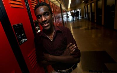 Abdisalan Mohamed Mahdi knows what it's like to be alone and unable to speak the language, so now the College Sturgeon Heights student is there for newcomers.