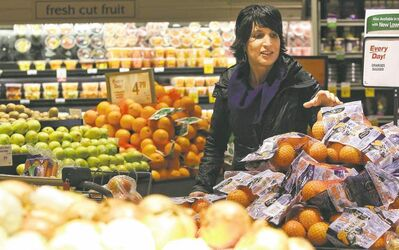 Gina Sunderland shops for healthy foods that can be cheaper than unhealthy junk foods.