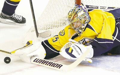 How about more time producing stuff, less time studying Nashville Predator Pekka Rinne's stats?