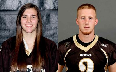 Amanda Schubert, women's hockey goalie for the U of M, and Jordan Yantz, quarterback for the U of M Bisons football team, are both rookies, and athletes of the week.