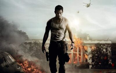 Channing Tatum knows that a form-fitting white tank top is de rigueur for fighting bad guys.