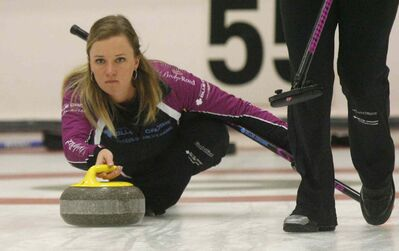 Winnipeg's Chelsea Carey will have to run the table the rest of the weekend if she's going to win the final of the $60,000 Manitoba Liquor and Lotteries Womens Curling on Monday.