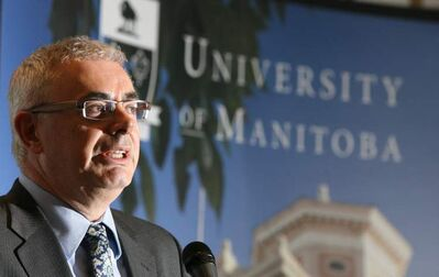 University of Manitoba president David Barnard questions the cost of keeping student tuition about $2,000 below the national average.