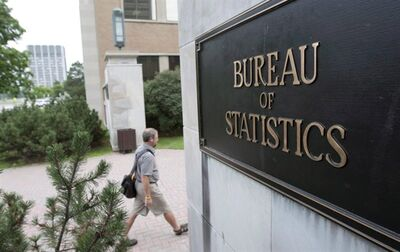 An employee makes his way to work at Statistics Canada in Ottawa on July 21, 2010. THE CANADIAN PRESS/Sean Kilpatrick