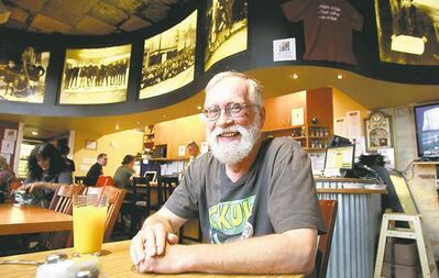 Ron Robinson likes the inclusive spirit at the Ellice Cafe, where everyone is welcome.
